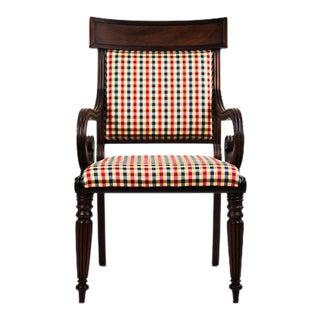 Biedermeier Sleigh Style Armchair