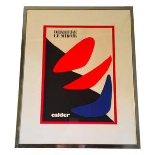 Vintage Calder 'Derrière Le Miroir' Gallery Poster