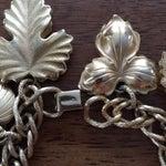 Image of Napier Gold Tone Leaf Charm Bracelet
