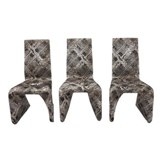 Futuristic Gray Swan Chairs - Set of 3