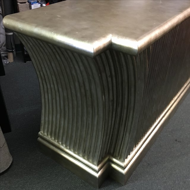 Silver-Leaf Fluted Wood Buffet - Image 3 of 5