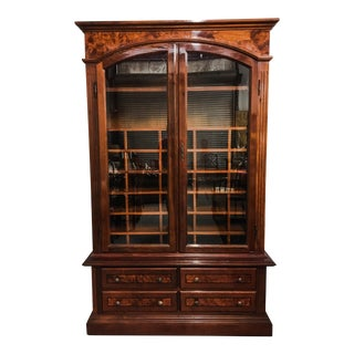 1950s English Burl Wood Gentlemen's Armoire