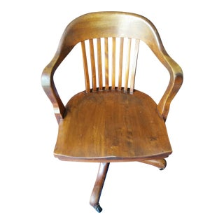 Marble & Shattuck Oak Barrel Back Swivel Chair