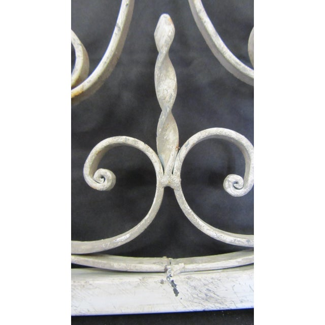 Vintage Painted Iron Wall Panel - Image 6 of 10
