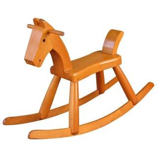 Fantastic and Rare Child's Rocking Horse by Kay Bojesen, Denmark, circa 1940