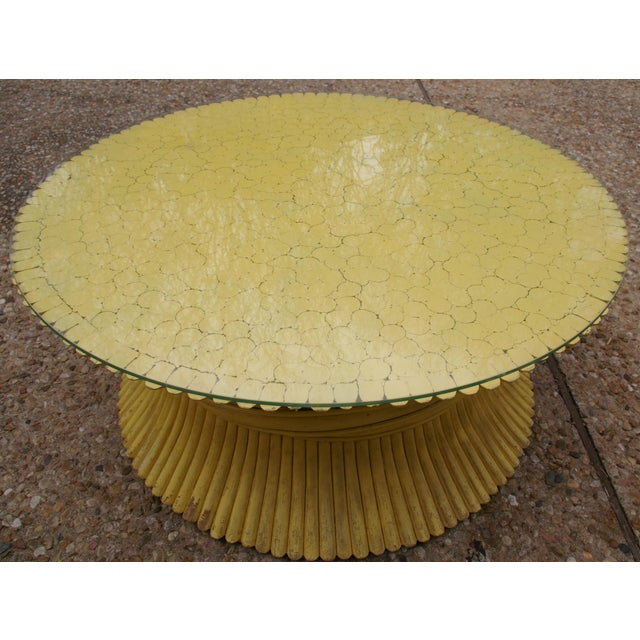 McGuire Wheat Sheaf Rattan Low Table - Image 3 of 4
