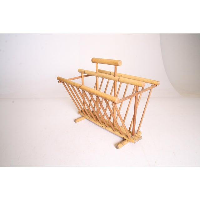 Vintage Boho Chic Bamboo Magazine Rack - Image 3 of 11