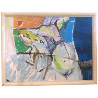 Mid-Century Oil Abstract Painting by Elwin Porter