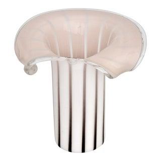 Vistosi Mid Century Modern Murano Glass Table Lamp MCM Venetian Italian Millennial Pink