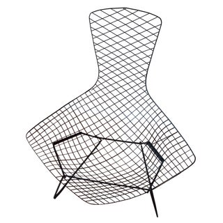 Knoll Bertoia Black Metal Bird Chair