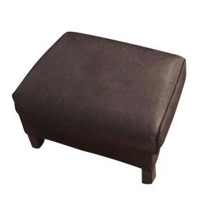 Bram Smoke Leather Ottoman From Room & Board