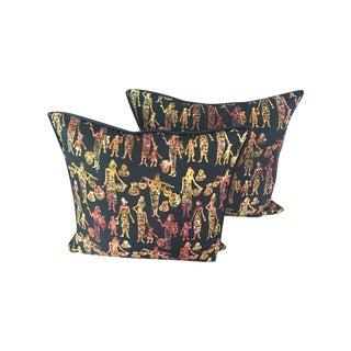 African Wax Pillows - a Pair