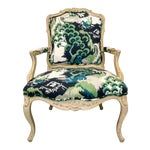 French Style Arm Chair in Madcap Cottage Linen