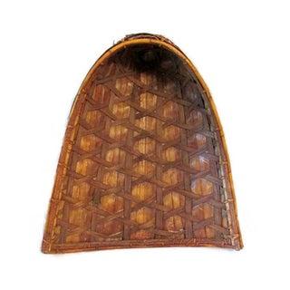Rustic Handwoven Vintage Winnowing Basket