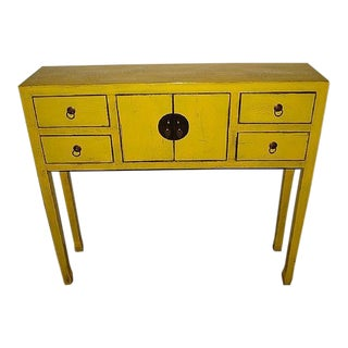 Daffodil Yellow Art Deco Desk