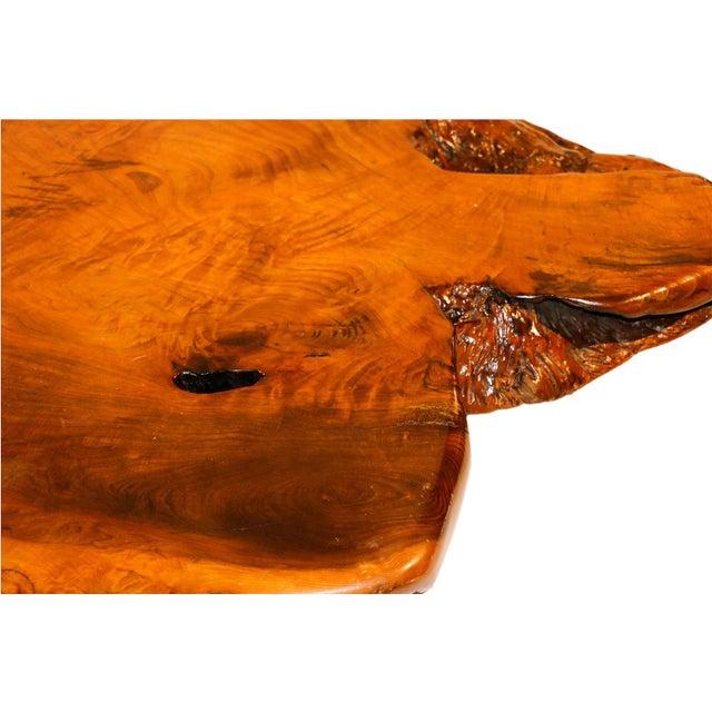 Mid-Century Live Edge Wood Coffee Table - Image 8 of 10