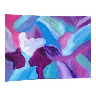 Contemporary Blue & Purple Painting - Whirls