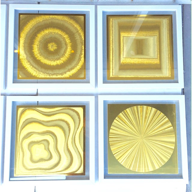 French Metallic Style Abstract Prints - 10 - Image 5 of 9