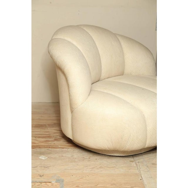 Modern Vintage A. Rudin Channel-Back Sofa with Matching Oversized Lounge Chair - Image 4 of 5
