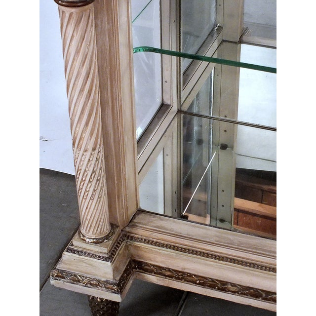 Image of Traditional 19th C. French Painted Vitrine