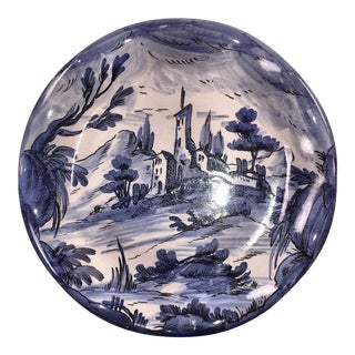 Blue and White Plate Handmade in Italy