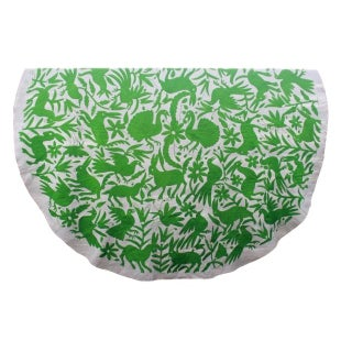 Otomi Green Tablecloth