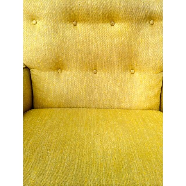 1960s Yellow Swivel Club Chairs - Image 7 of 10