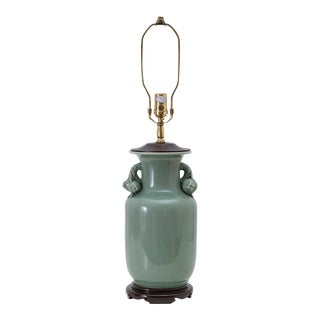 Chinoiserie Celadon Green Ginger Jar Lamp