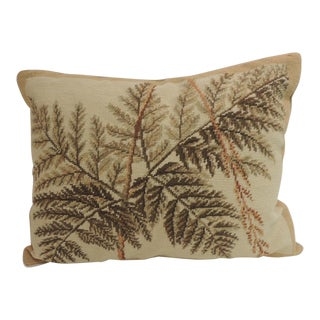 Vintage Fern Tapestry Decorative Lumbar Pillow