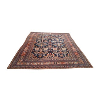 Antique Persian Azari Hand Made Knotted Rug - 7′ × 9′6″