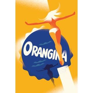 Mads Berg 'Orangina Ad' Art Deco Danish Poster