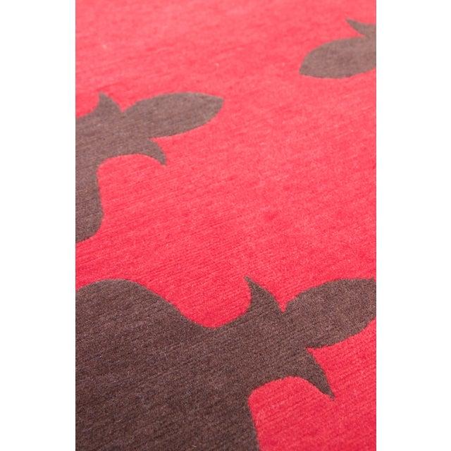 Madeline Weinrib Red Carlotta Wool Rug - 2′6″ × 9′ - Image 5 of 6
