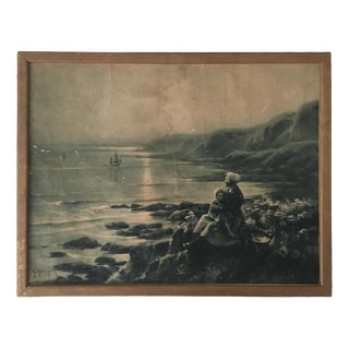 Vintage French Wooden Framed Print