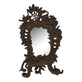 Antique Metal Easel Mirror