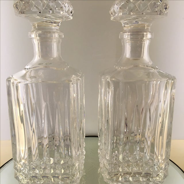 Diamond Glass Decanters - Image 4 of 8