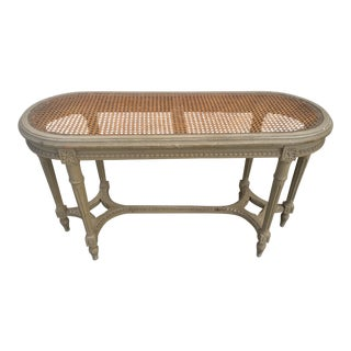 French Louis XVI Caned Bench