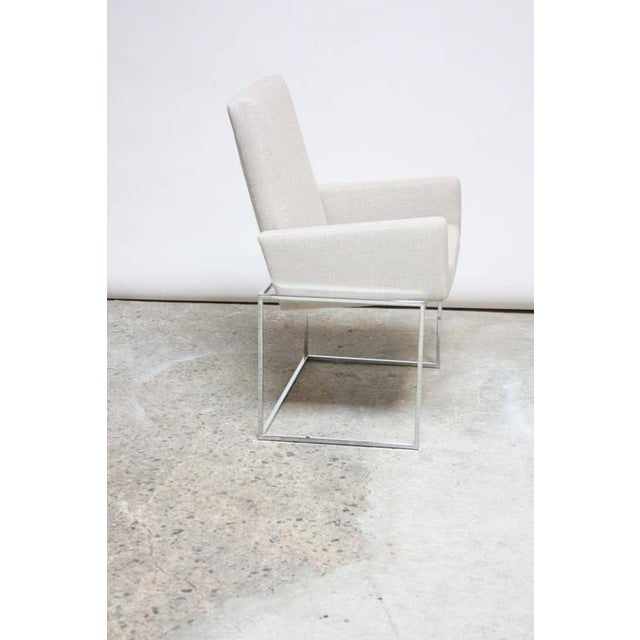 Image of Set of Six Milo Baughman 'Thin Line' Chrome Dining Chairs