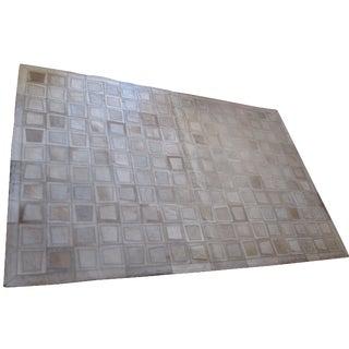 Geometrical Cowhide Rug - 3′11″ × 5′10″