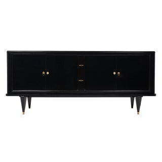 Art Deco Ebonized Vintage Buffet in the Style of Dominique