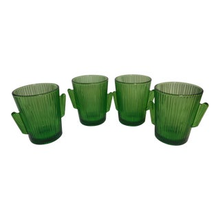 Vintage Libbey Glass Cactus Tumblers - Set of 4