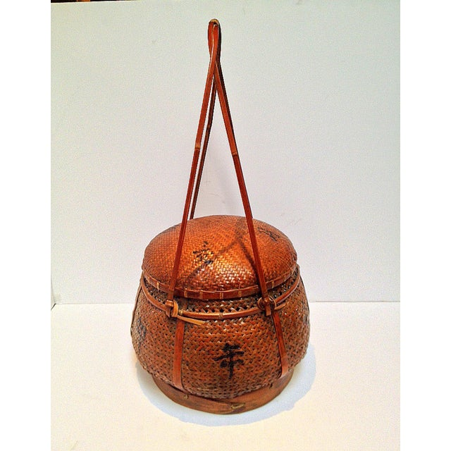 Hand Woven Japanese Basket - Image 6 of 9