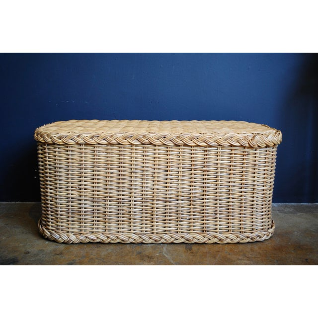 Vintage Rattan Coffee Table / Bench - Image 4 of 6