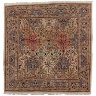 RugsinDallas Vintage Persian Tabriz Wool Rug - 4′9″ × 4′11″