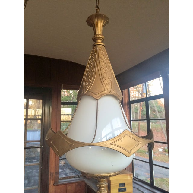 Mid Century Pendant Lamps - Pair - Image 3 of 11