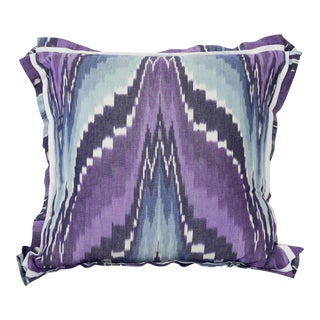 Purple & Blue Ikat Pillow