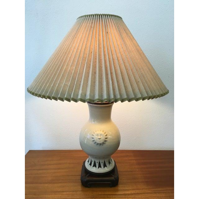 Glazed Ceramic Sun Lamp - Image 2 of 6