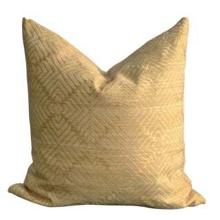 Linen Diamond Pattern Jacquard Pillow