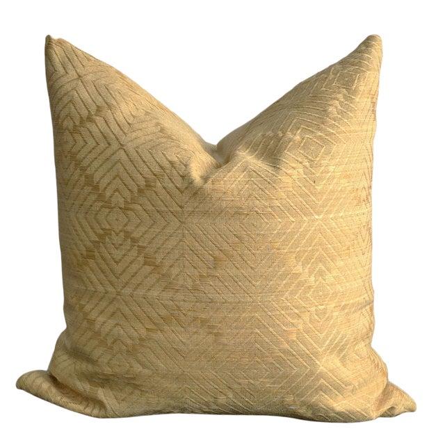 Linen Diamond Pattern Jacquard Pillow - Image 1 of 2