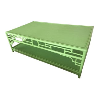 Lime Rattan Pagoda Coffee Table