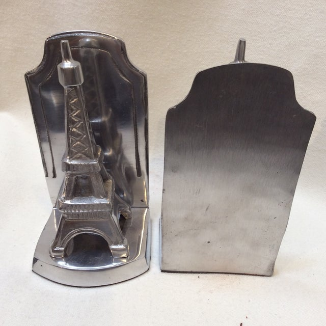 Aluminum Eiffel Tower Bookends - A Pair - Image 4 of 6